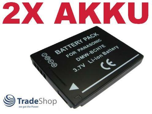 2x AKKU f. Panasonic Lumix DMW-BCH7 E DMW-BCH7E DMWBCH7