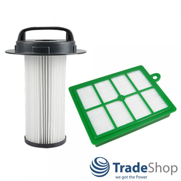 HEPA-Filter Set Zylinderfilter + Allergie-Filter für Philips FC8048