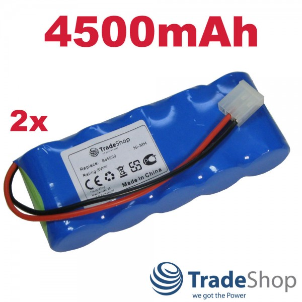 2x AKKU 6V 4500mAh für Bosch Somfy BD5000 BD6000 ersetzt E-BRLX620-1-NC