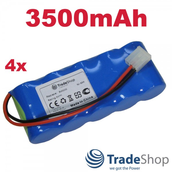 4x AKKU 6V 3500mAh für Bosch Somfy BD5000 BD6000 ersetzt E-BRLX620-1-NC