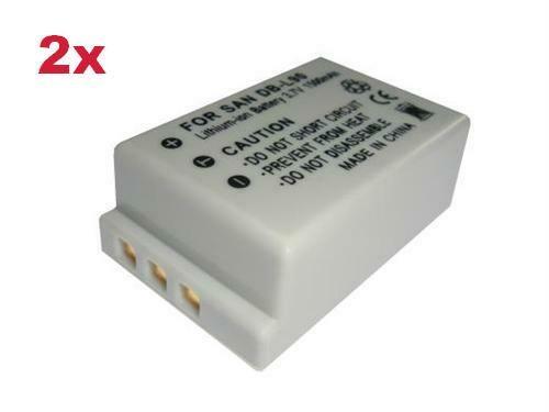 2x AKKU für Sanyo Xacti VPC-SH1 VPC-SH11 DB-L90 DBL90