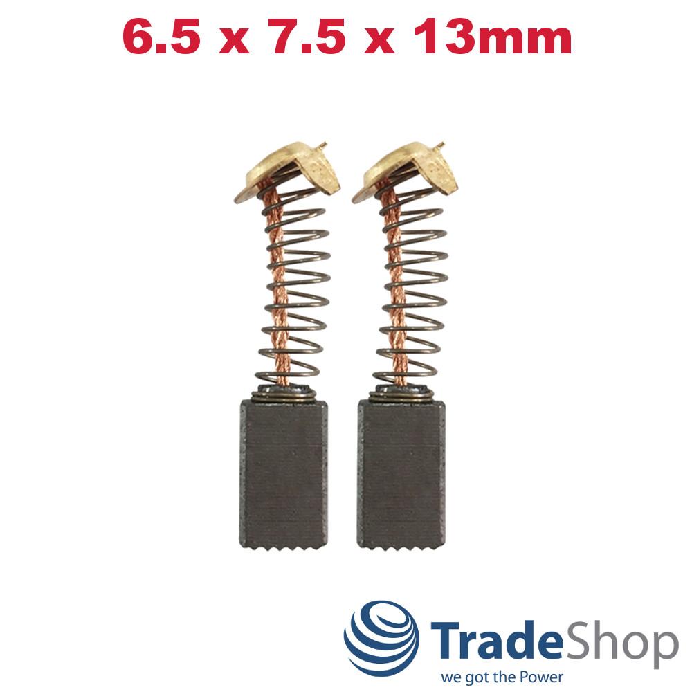 2x Kohlebürsten für viele Hitachi Elektro-Werkzeuge Motorkohlen 6,5x7,5x13mm