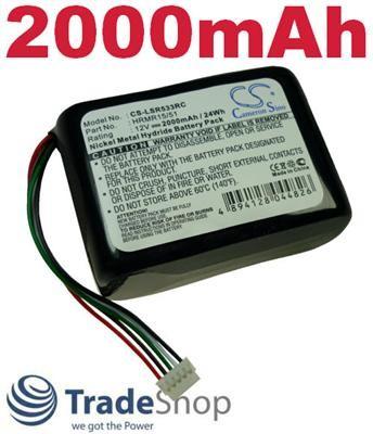 AKKU für Logitech NT-210-AA-HCB-10-YMXZ Squeezebox Radio 2000mAh