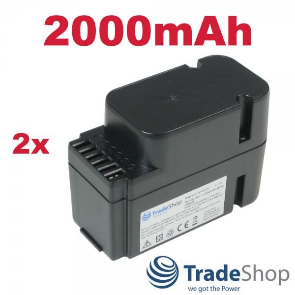 2x AKKU 28V 2000mAh Li-Ion für Worx Landroid M800 WG790E WG794E WG794EDC