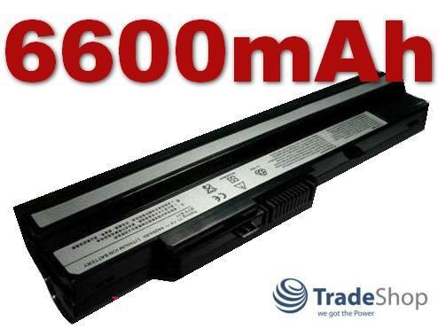 AKKU Medion Akoya Mini E1210 E-1210 schwarz U100 6,6Ah