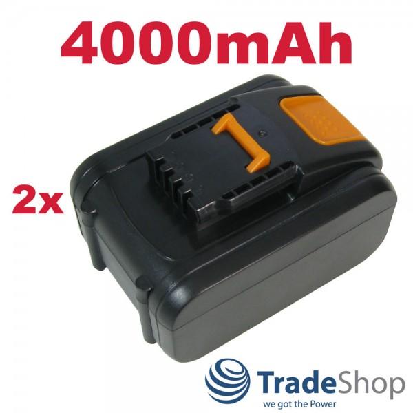 2x AKKU 20V 4000mAh Li-Ion ersetzt Worx WA3528, WA3553.2. WA3551.1