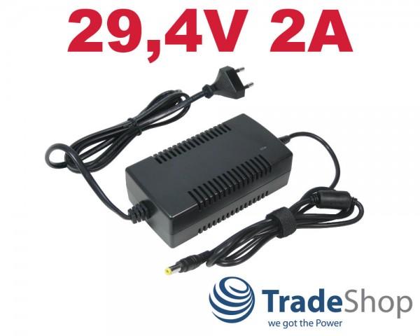 Netzteil Ladegerät Ladekabel 29,4V 2A für 24V Akkus Fahrrad e-Bike