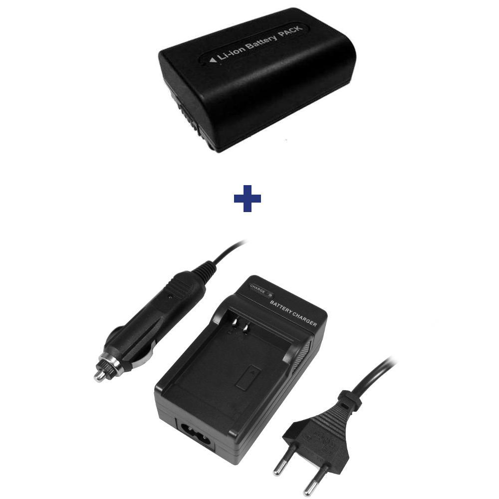 Batería CARGADOR f Sony hdr-sr8 hdr-sr8e hdr-sr-8e sr-8