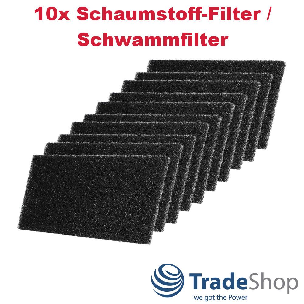 10x Schaumstoff-Filter für Bauknecht TRKA Koblenz 6580