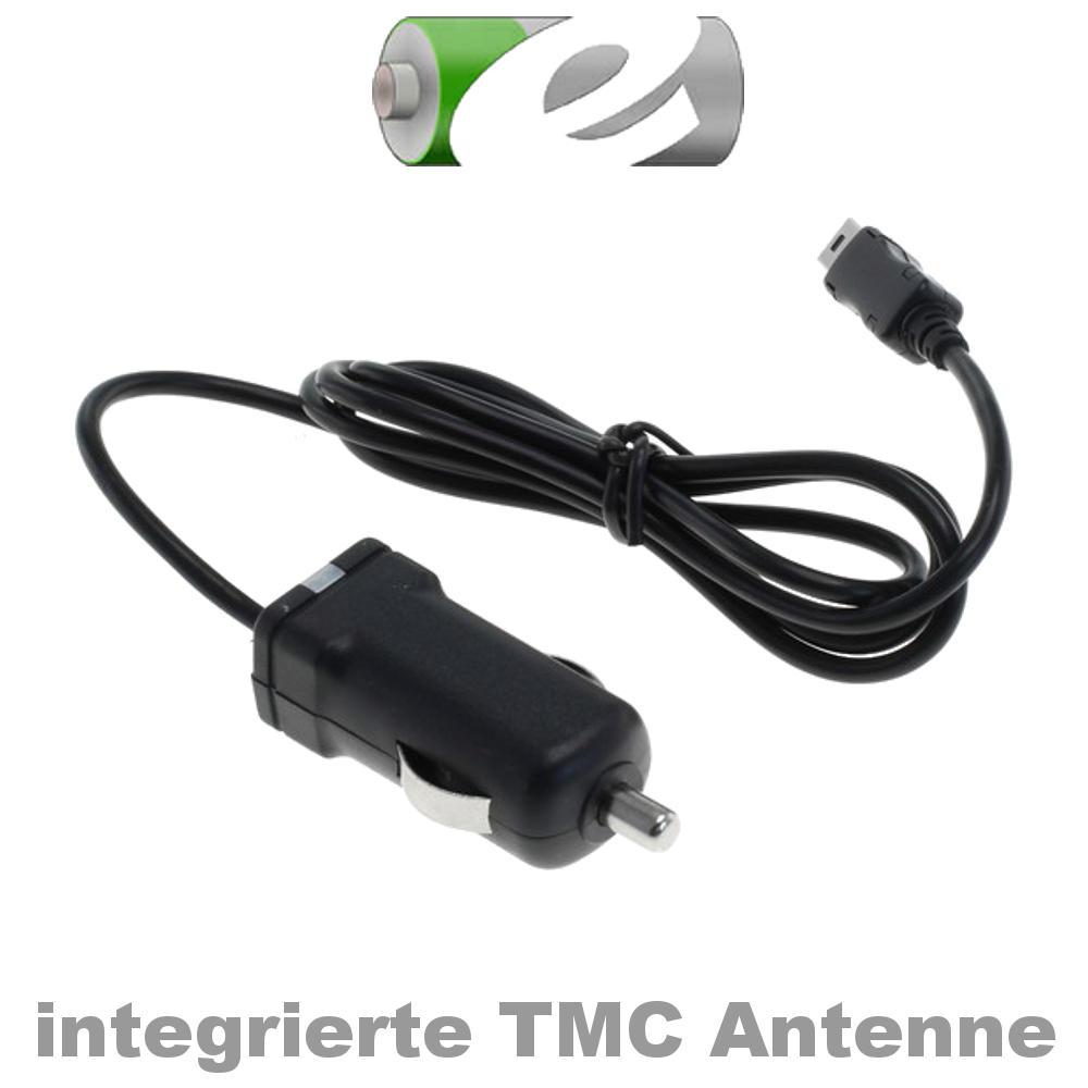 Powery KfZ-Ladekabel mit integr TMC-Antenne 12-24V für Navigon 4310 max mit Min