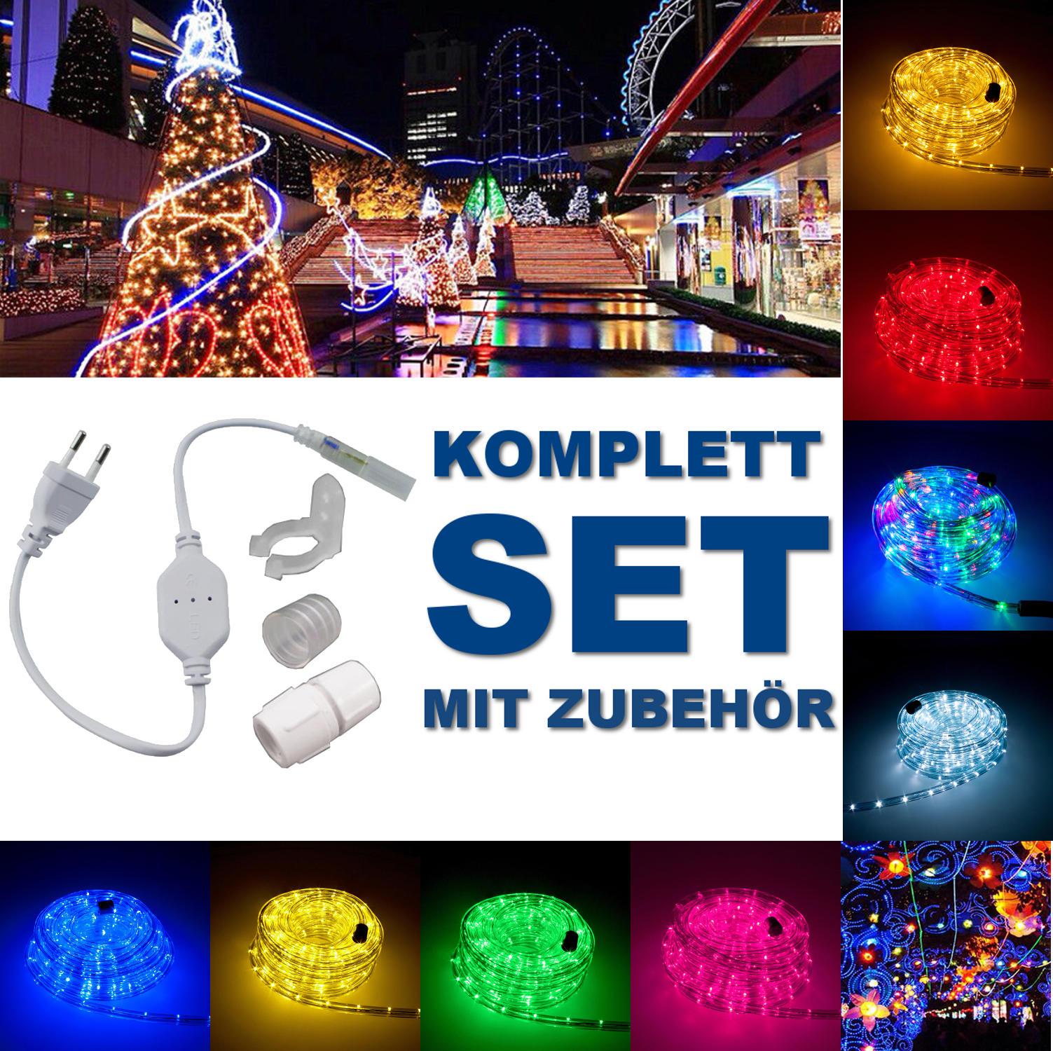 LED Lichterschlauch Lichtschlauch 5 Farben Beleuchtung Außen/Innen ...